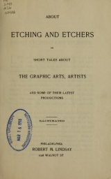 Cover of About etching and etchers