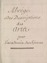 Cover of Abrel§el`des descriptions des artes