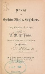Cover of Abriss des Deutschen Salbel- u. Stossfechtens