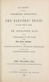 Cover of An account of some remarkable applications of the electric fluid to the useful arts, by Mr.