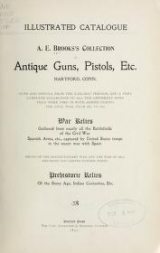 Cover of A.E. Brooks's collection of antique guns, pistols, etc., Hartford, Conn