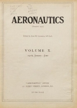 Cover of Aeronautics n.s. 10 Jan-Jun 1916