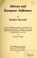 Cover of African and European addresses