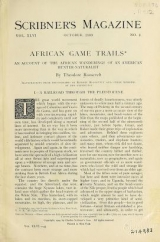 Cover of African game trails