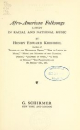 Cover of Afro-American folksongs