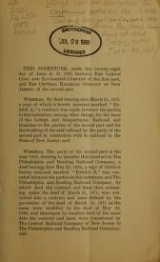 Cover of Agreement between the Lehigh Coal and Navigation Co. and the Central Railroad Company of New Jersey, dated June 28, 1887