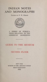 Cover of Aims and objects of the Museum of the American Indian