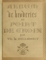Cover of Album de broderies au point de croix