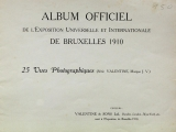 Cover of Album officiel de l'Exposition Universelle et Internationale de Bruxelles 1910
