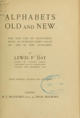 Cover of Alphabets old and new, for the use of craftsmen