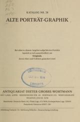 Cover of Alte Porträt-Graphik