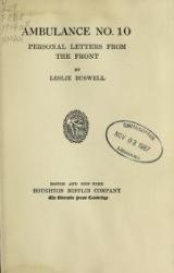 Cover of Ambulance no. 10