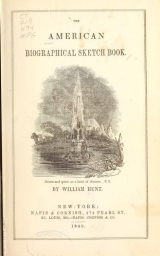 Cover of The American biographical sketch book