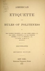 Cover of American etiquette and rules of politeness