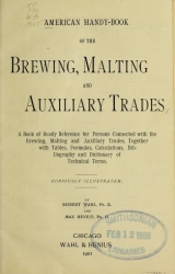 Cover of American handy-book of the brewing, malting and auxiliary trades