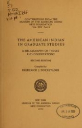 """Cover of """"The American Indian in graduate studies"""""""