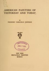 Cover of American painters of yesterday and today
