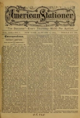 Cover of The American stationer