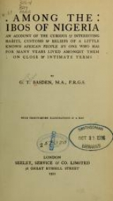 "Cover of ""Among the Ibos of Nigeria"""