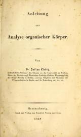 Cover of Anleitung zur Analyse organischer Körper