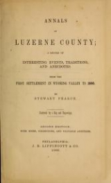 Cover of Annals of Luzerne County