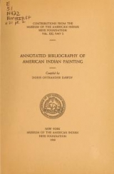 Cover of Annotated bibliography of American Indian painting