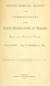 Cover of Annual report of the Commissioners of the State Reservation at Niagara