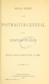 "Cover of ""Annual report of the Postmaster General"""