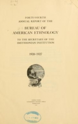 """Cover of """"Annual report of the Bureau of American Ethnology to the Secretary of the Smithsonian Institution"""""""