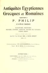 Cover of Antiquites Egyptiennes, Grecques et Romaines appartenant a P.
