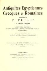 """Cover of """"Antiquites Egyptiennes, Grecques et Romaines appartenant a P."""""""