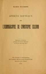 Cover of Aperçu nouveaux sur l'iconographie de Christophe Colomb
