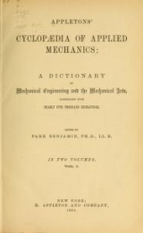 Cover of Appletons' cyclopaedia of applied mechanics