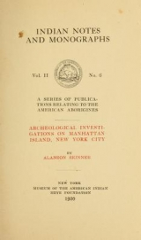 Cover of Archeological investigations on Manhattan island, New York city