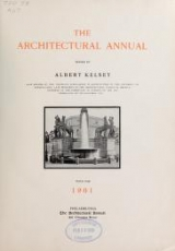 Cover of The architectural annual