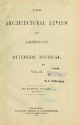 Cover of The Architectural review and American builders' journal