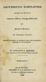 Cover of Arithmetic simplified