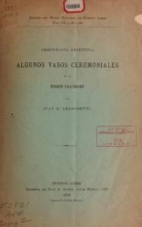 Cover of Arqueología argentina