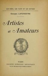 Cover of Artistes et amateurs