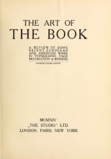 Cover of The art of the book