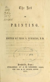 Cover of The art of printing