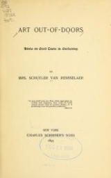 Cover of Art out-of-doors