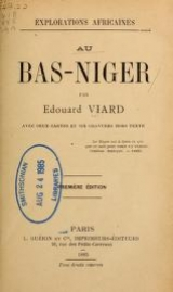 Cover of Au Bas-Niger