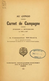 Cover of Au Congo