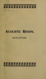 Cover of Auguste Rodin, sculptor