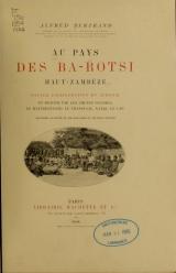 Cover of Au pays des Ba-Rotsi, Haut-Zambèze