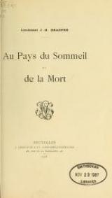 Cover of Au pays du sommeil et de la mort