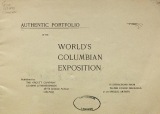 """Cover of """"Authentic portfolio of the World's Columbian Exposition"""""""