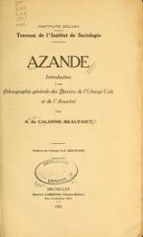 Cover of Azande