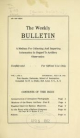 Cover of [Balloon bulletins]